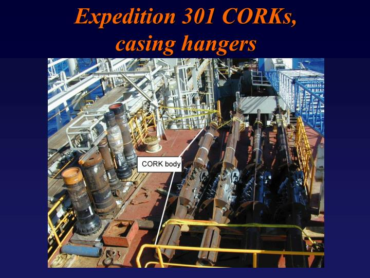 Expedition 301 CORKs,