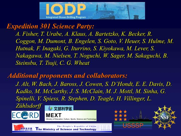 Expedition 301 science party