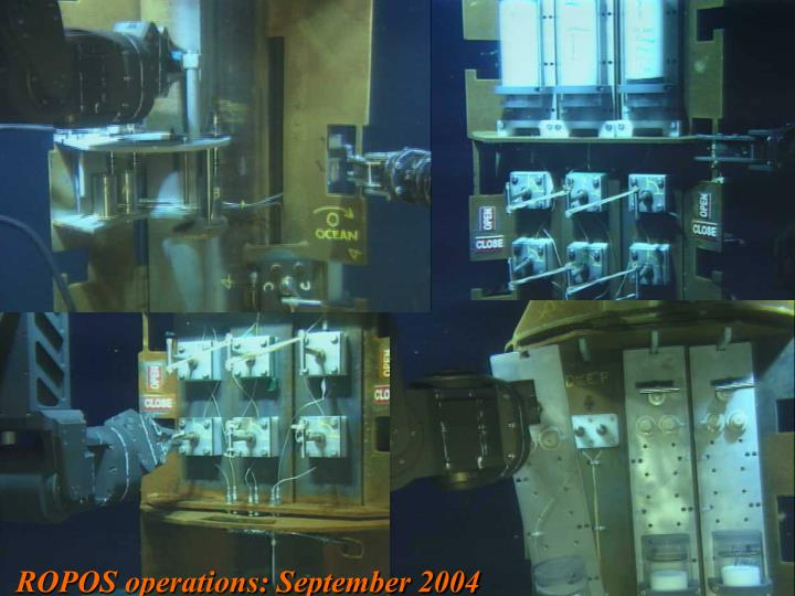 ROPOS operations: September 2004