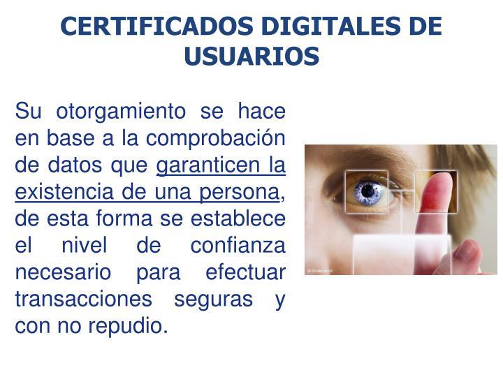 Certificados Digitales de usuarios