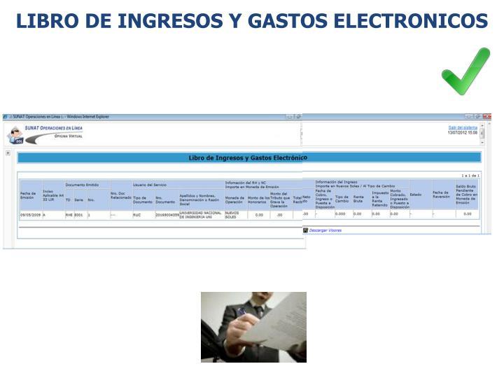 Libro de ingresos y gastos ELECTRONICOS