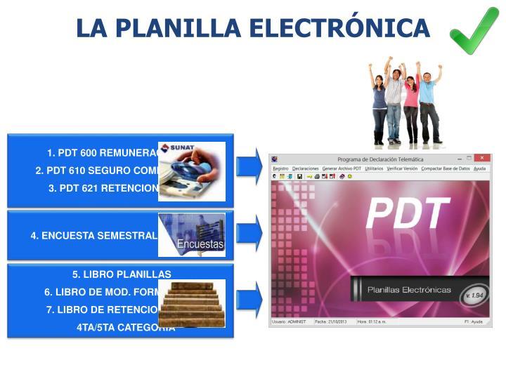 LA PLANILLA ELECTRÓNICA