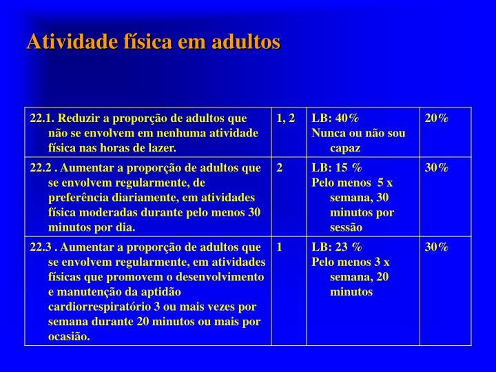 Atividade física em adultos