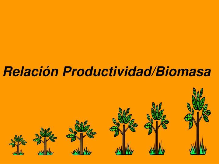 Relación Productividad/Biomasa
