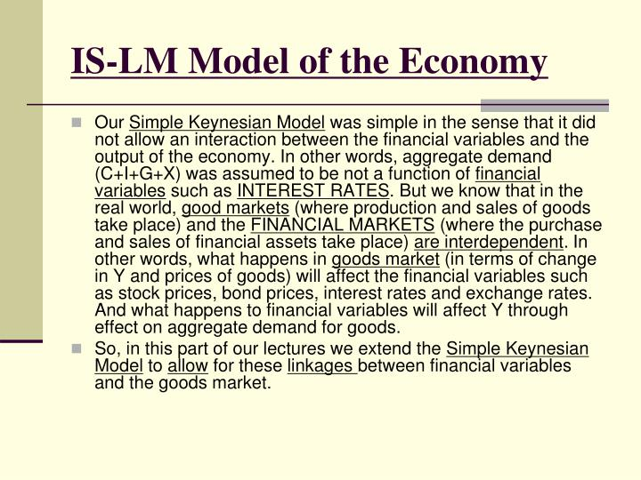 IS-LM Model of the Economy