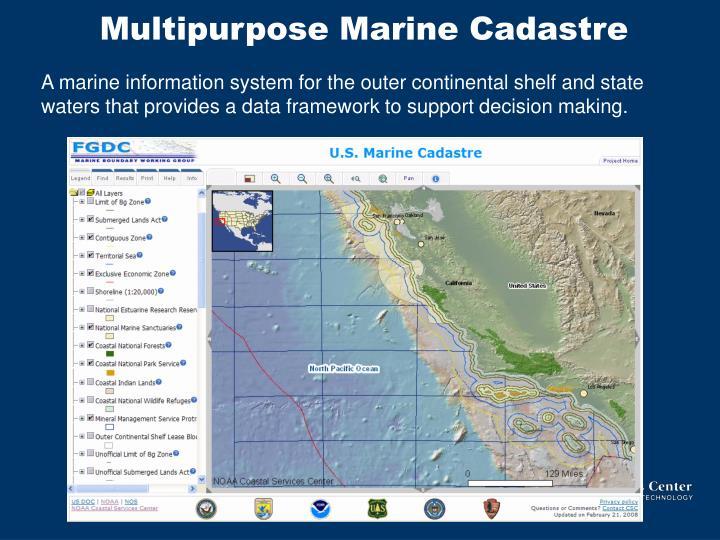 Multipurpose Marine Cadastre