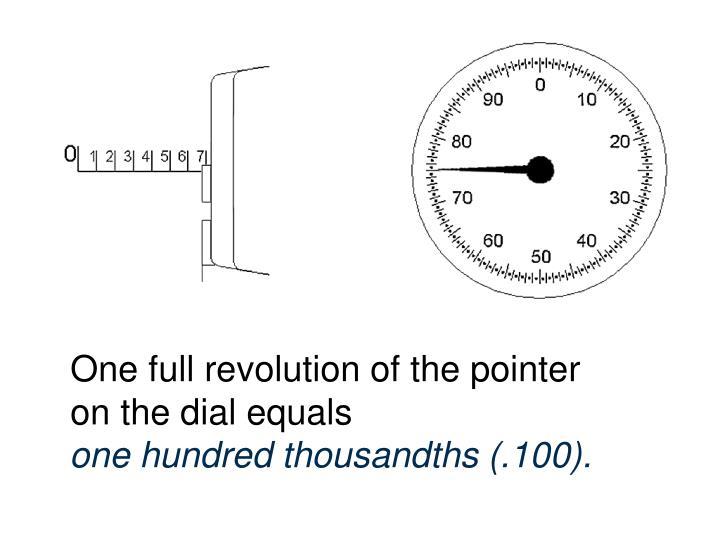 One full revolution of the pointer