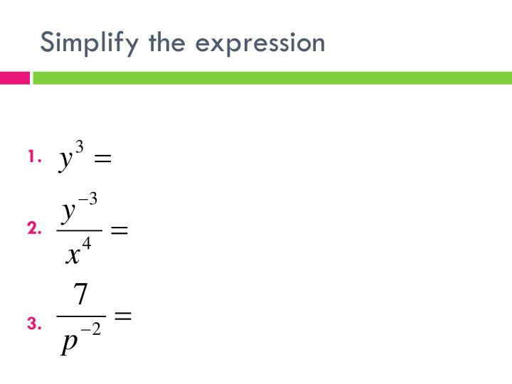 Simplify the expression