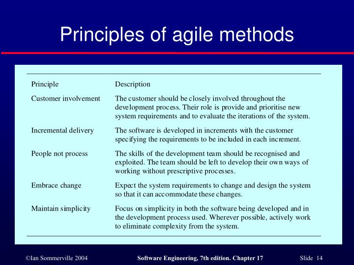 Principles of agile methods