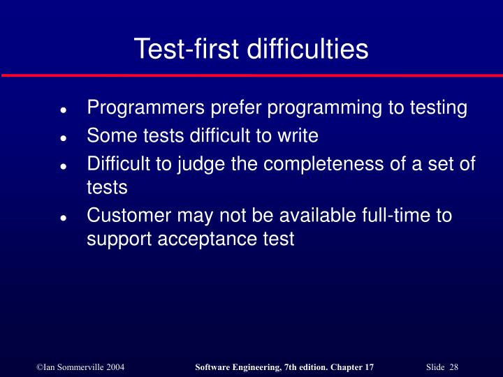 Test-first difficulties