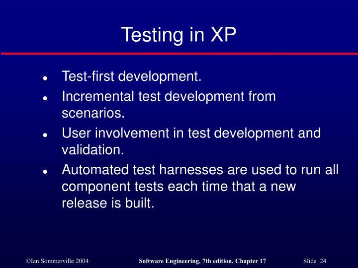 Testing in XP