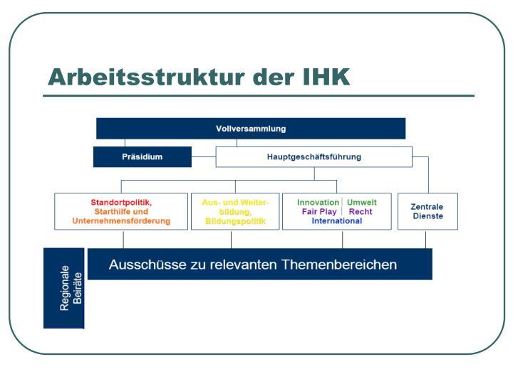Arbeitsstruktur der IHK