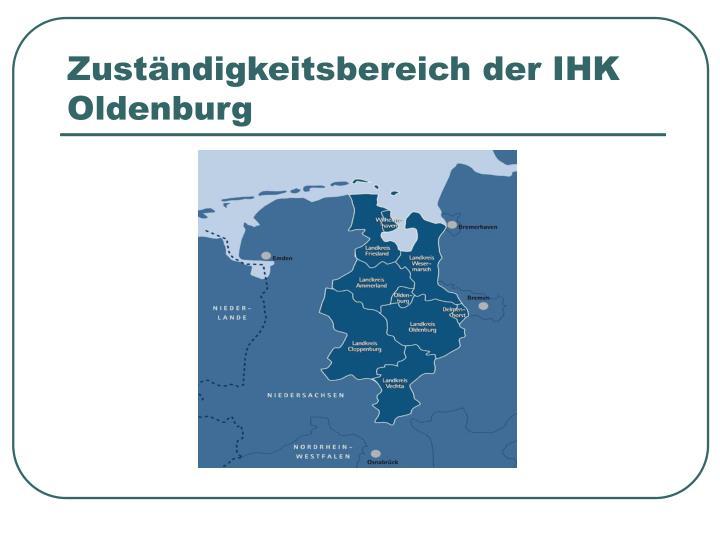Zuständigkeitsbereich der IHK Oldenburg