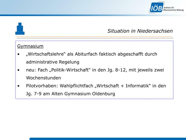 Situation in Niedersachsen