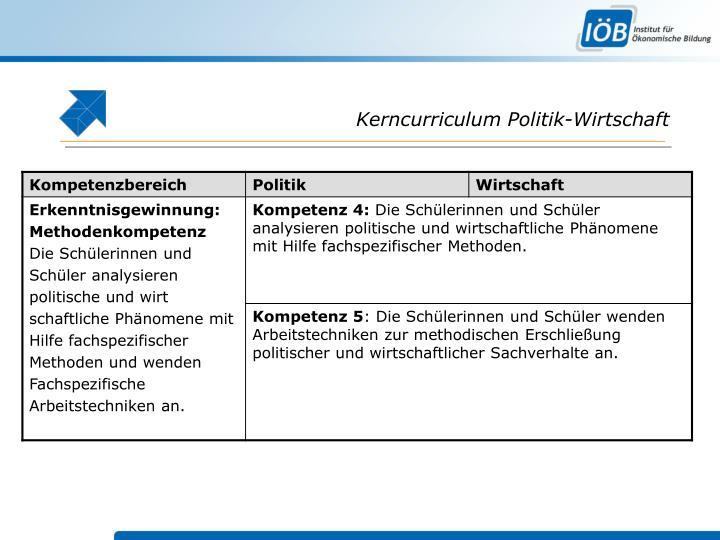 Kerncurriculum Politik-Wirtschaft