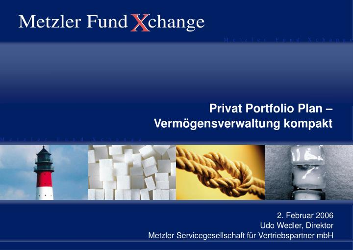 Privat Portfolio Plan – Vermögensverwaltung kompakt