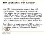 inra collaboration agn evaluation