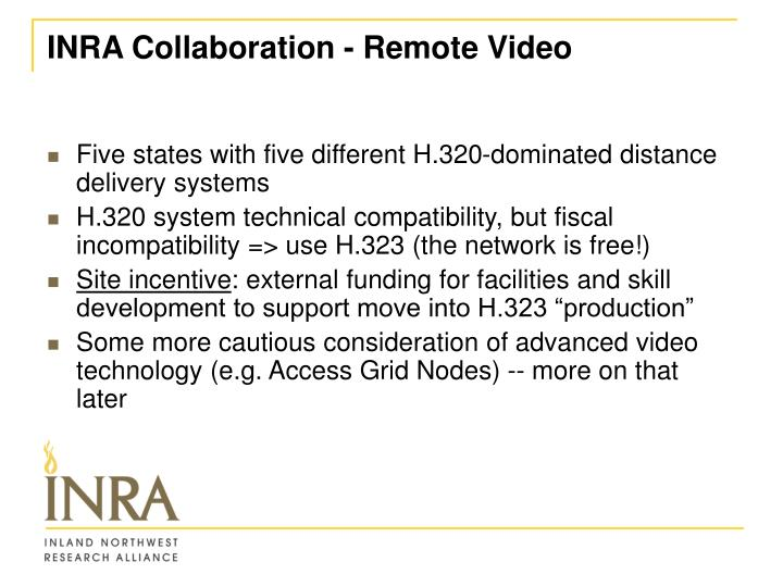 INRA Collaboration - Remote Video
