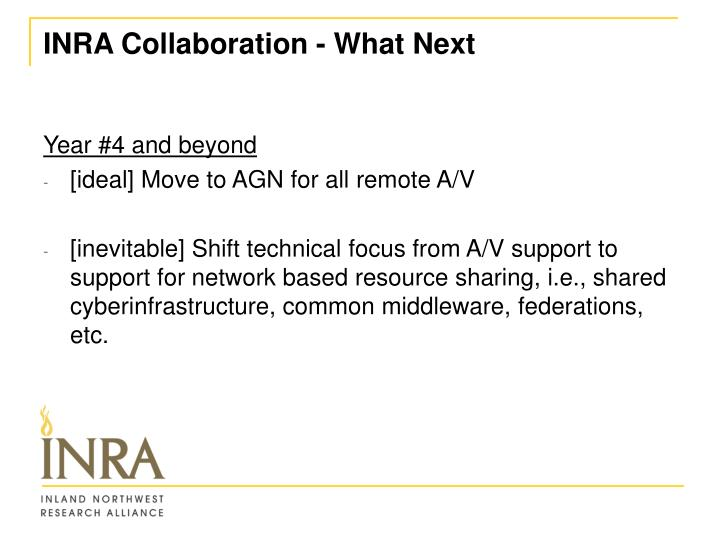 INRA Collaboration - What Next