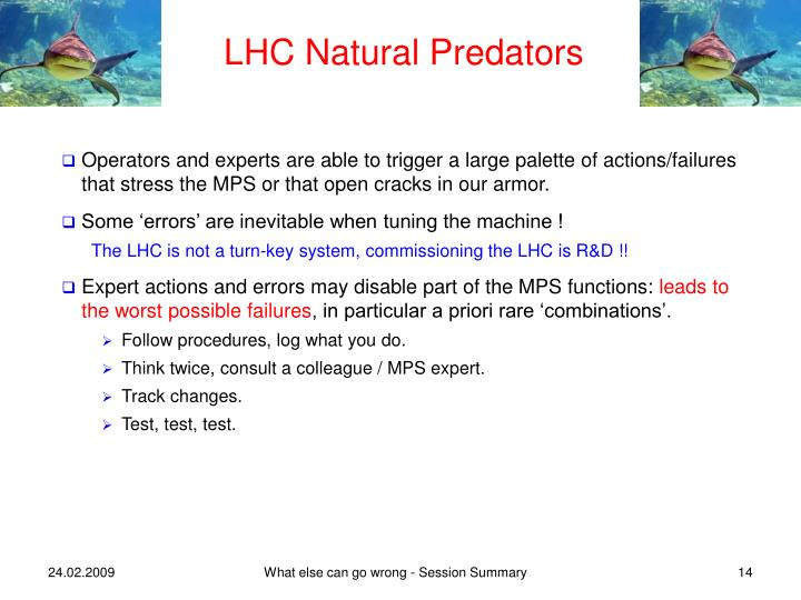LHC Natural Predators