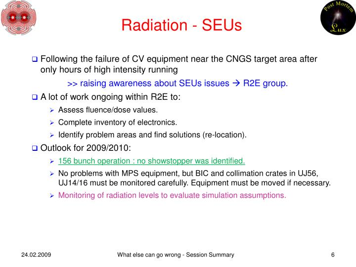 Radiation - SEUs