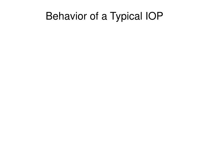 Behavior of a Typical IOP