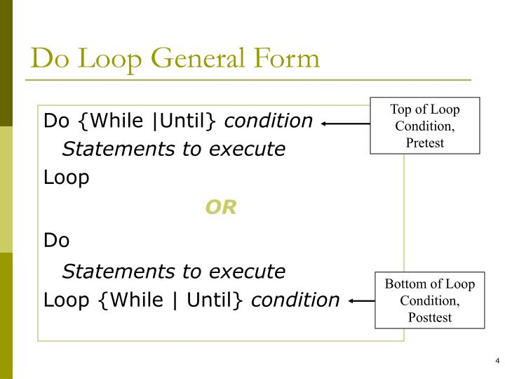 Do Loop General Form