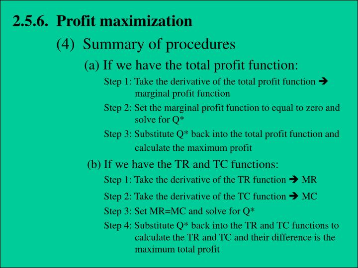 2.5.6.  Profit maximization