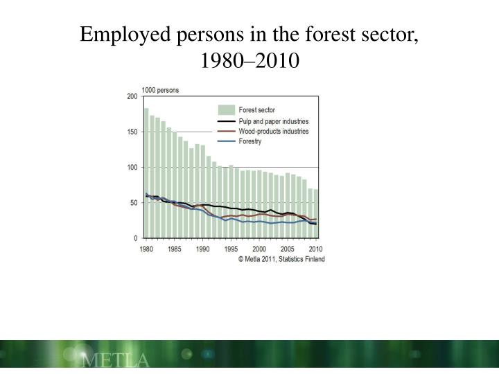 Employed persons in the forest sector,