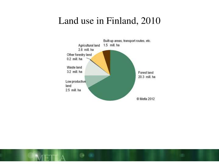 Land use in Finland, 2010