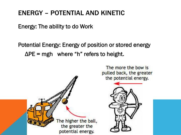 Energy – Potential and kinetic