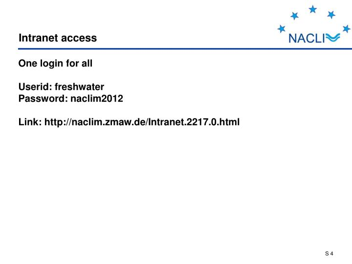 Intranet access