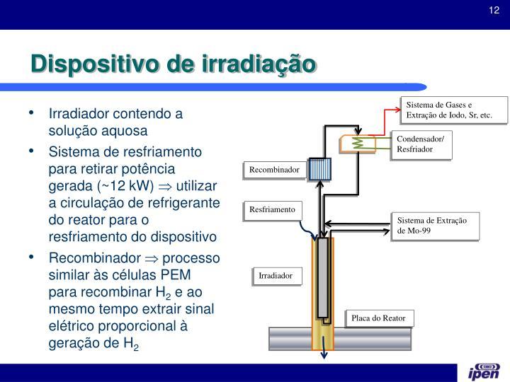 Sistema de Gases e Extração de Iodo, Sr, etc.