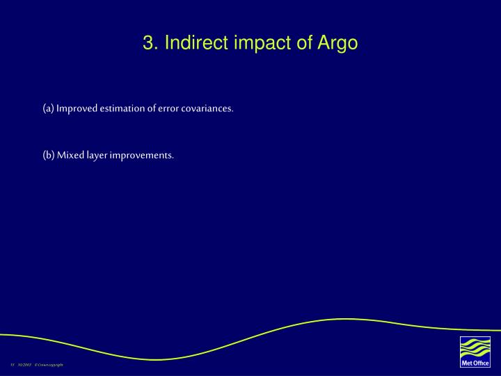 3. Indirect impact of Argo