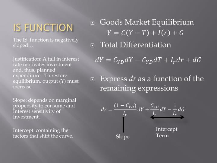 IS FUNCTION