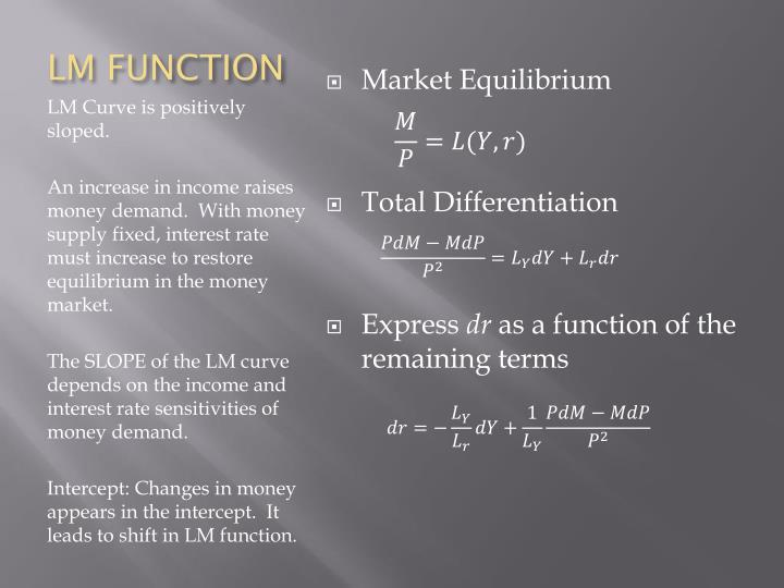 LM FUNCTION