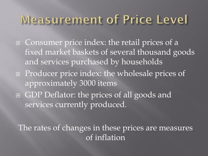 Measurement of Price Level