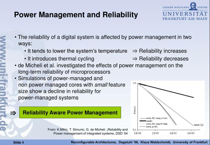 """From: K.Mihic, T. Simunic, G. de Micheli: """"Reliability and"""