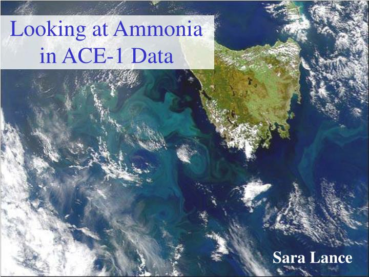 Looking at ammonia in ace 1 data