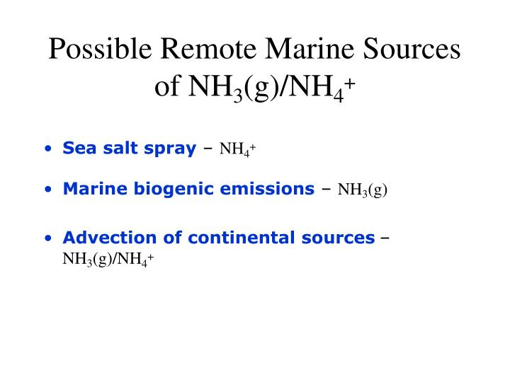 Possible Remote Marine Sources of NH