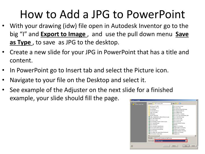 How to Add a JPG to PowerPoint