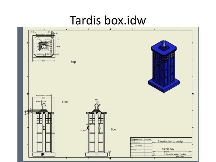 Tardis box.idw