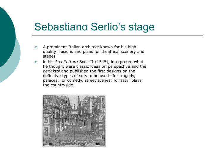 Sebastiano Serlio's stage
