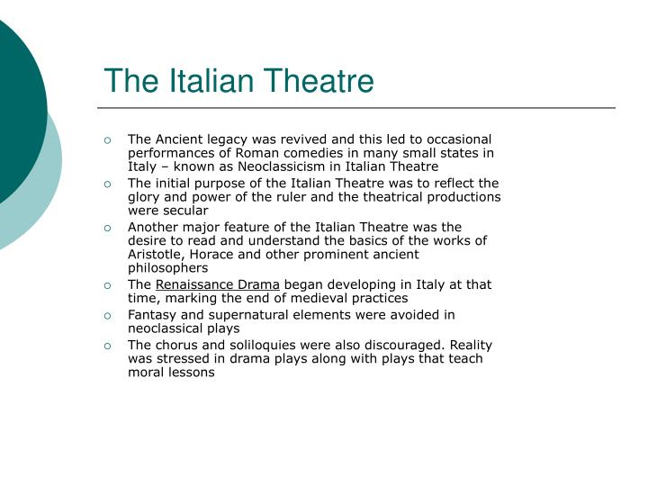 The Italian Theatre