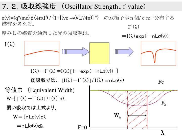 7.2.吸収線強度 (