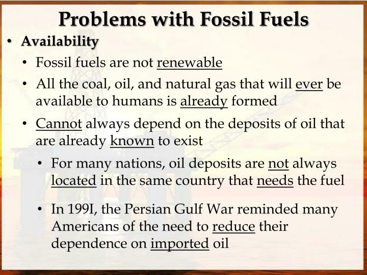 Problems with fossil fuels1
