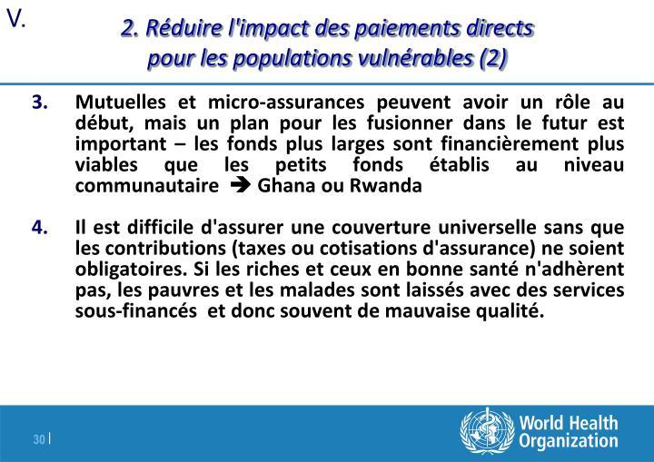 2. Réduire l'impact des paiements directs