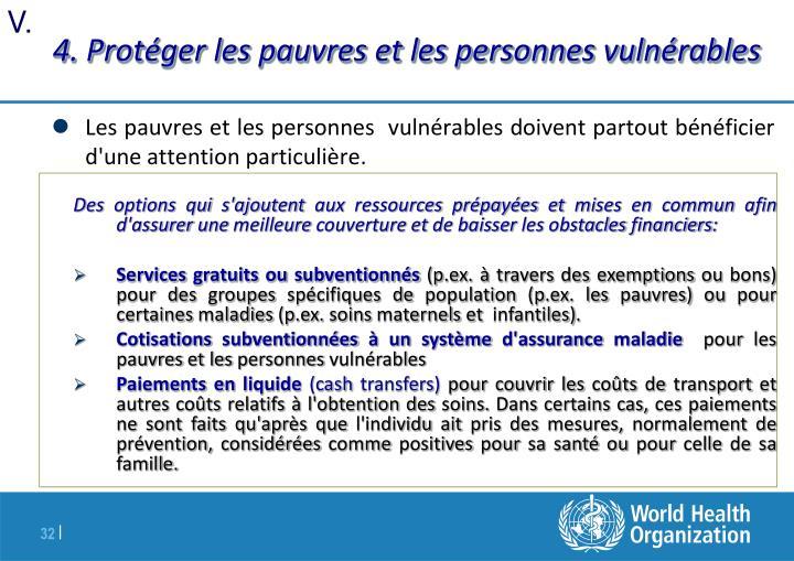 4. Protéger les pauvres et les personnes vulnérables