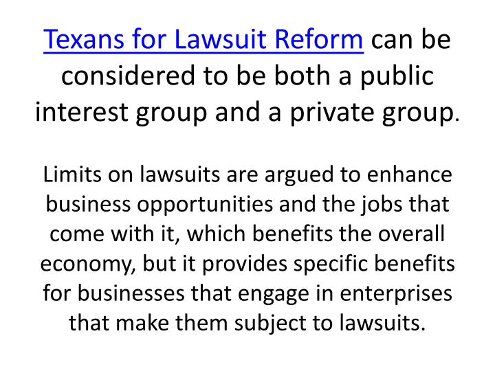 Texans for Lawsuit Reform