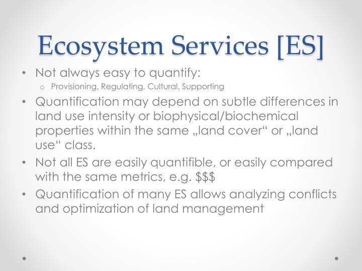 Ecosystem Services [ES]